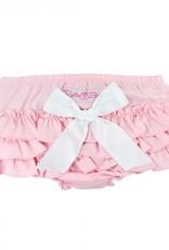 RuffleButts Pink Chambray Rufflebutt  Set