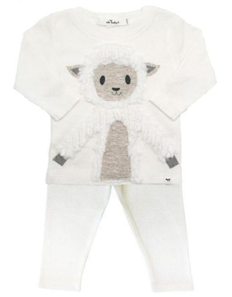 Oh Baby! Oh Baby! Cream Lamby 2 pc. Set
