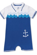 Angel Dear Angel Dear Nautical Polo Shortie