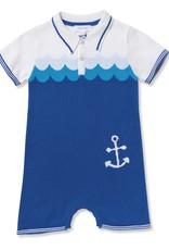 Angel Dear Angel Dear Nautical Polo Shortie