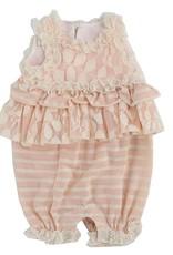 isobella & chloe Isobella & Chloe Peaches & Cream Lace Romper