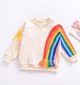 Baby Kiss Rainbow Tassled Crewneck