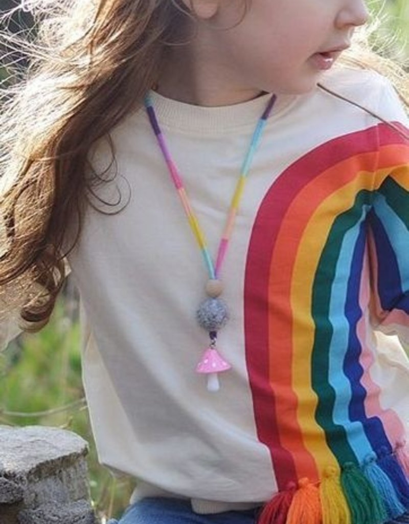 Baby Kiss Rainbow Tassled Crewneck