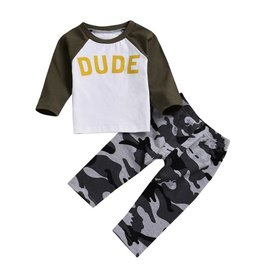 Baby Kiss DUDE Camo Top & Jogger set