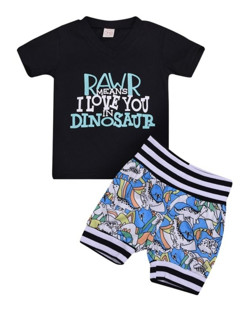 Baby Kiss Rawr Means I Love You Set
