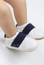 Baby Kiss Boys Faux Leather & Navy Strap Shoe