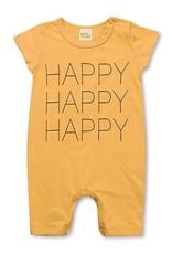 Baby Kiss Happy Mustard Romper