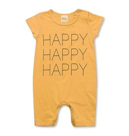 Baby Kiss Happy Mustard Romper