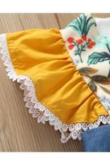 Baby Kiss Country Denim Ruffle Sleeve Dress