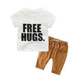 Baby Kiss Free Hugs Top and Bottom Set