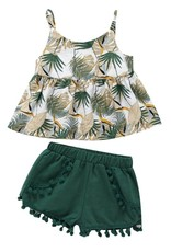 Baby Kiss 2 Pc. Leafy Greens Tank and Shorts Set