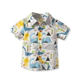 Baby Kiss Happy Dino's Patterned Button Down