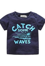 Baby Kiss Catch Some Waves Navy Tee