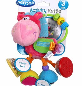 Playgro Clopette Activity Rattle- pink