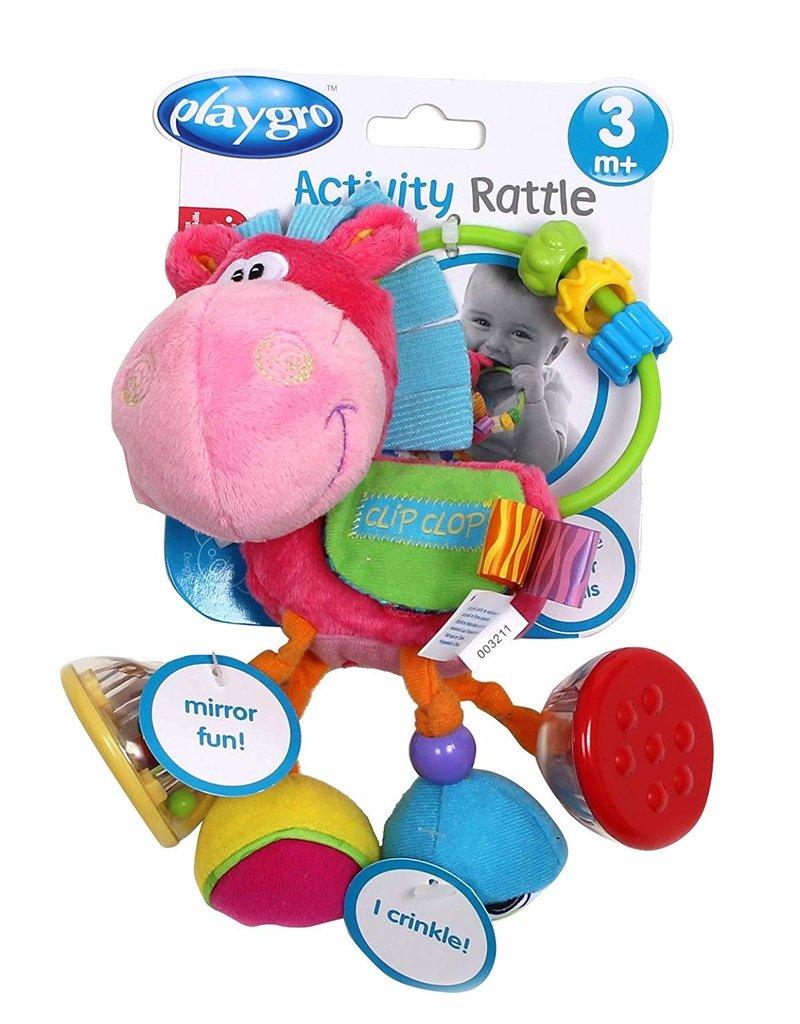 Playgro Clopette Activity Rattle- pink