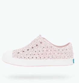 Native Shoes Native's Jefferson Slip On- Milk Pink Bling