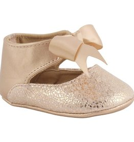 Trimfoot Co. Rose Gold Baby Shoes with Bow