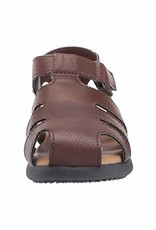 Baby Deer Brown Textured Fisherman's Sandal