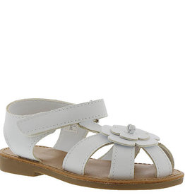 Trimfoot Co. White Flower Strap Sandal