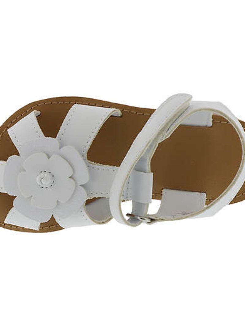 Trimfoot Co. White Flower Strap Sandal