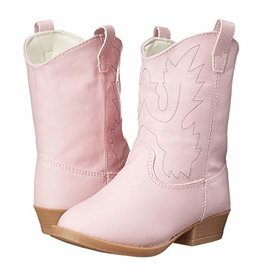 Trimfoot Co. Pink Embroidered Cowgirl Boots