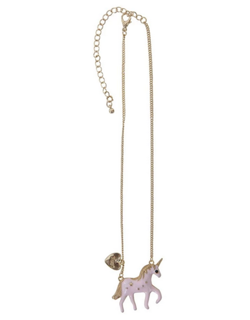 Great Pretenders Galloping Pink/Gold Unicorn Necklace