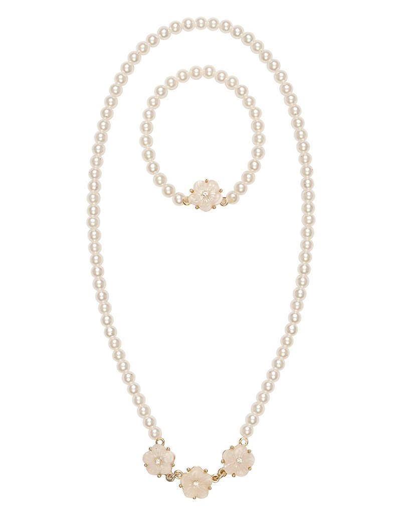 Great Pretenders Twirling in Pearls Necklace & Bracelet Set