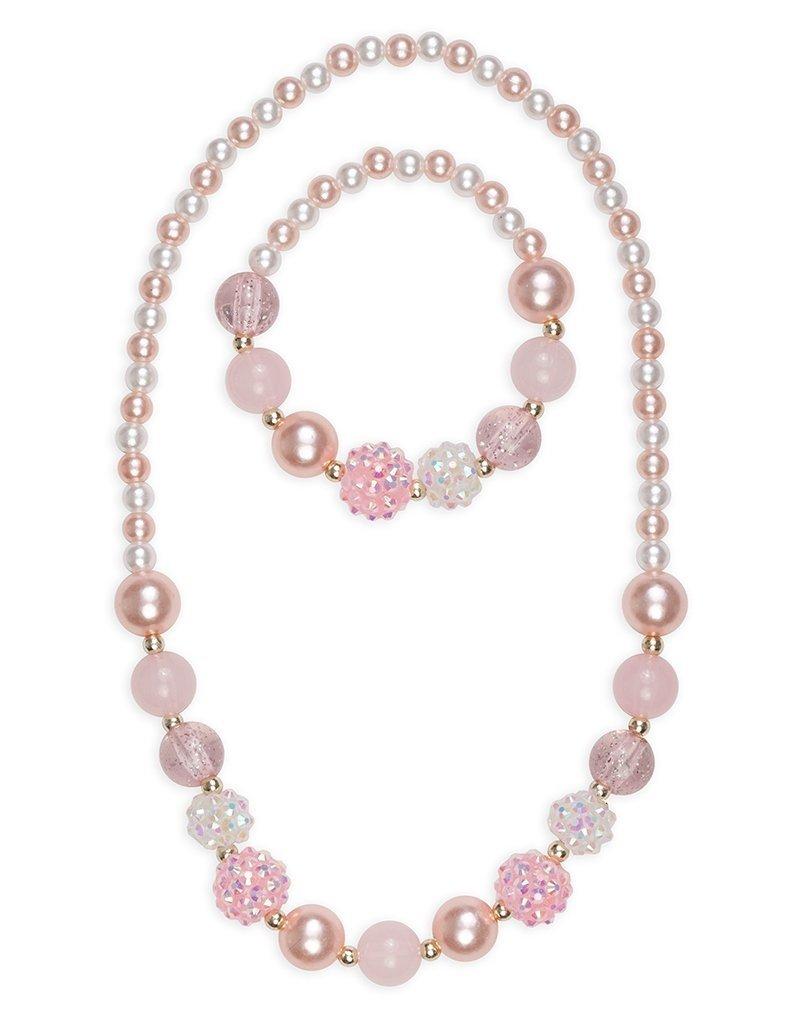 Great Pretenders Pink Pearls Necklace Bracelet Set