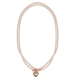 Great Pretenders Pearly Pearls 2 Strand Locket Necklace