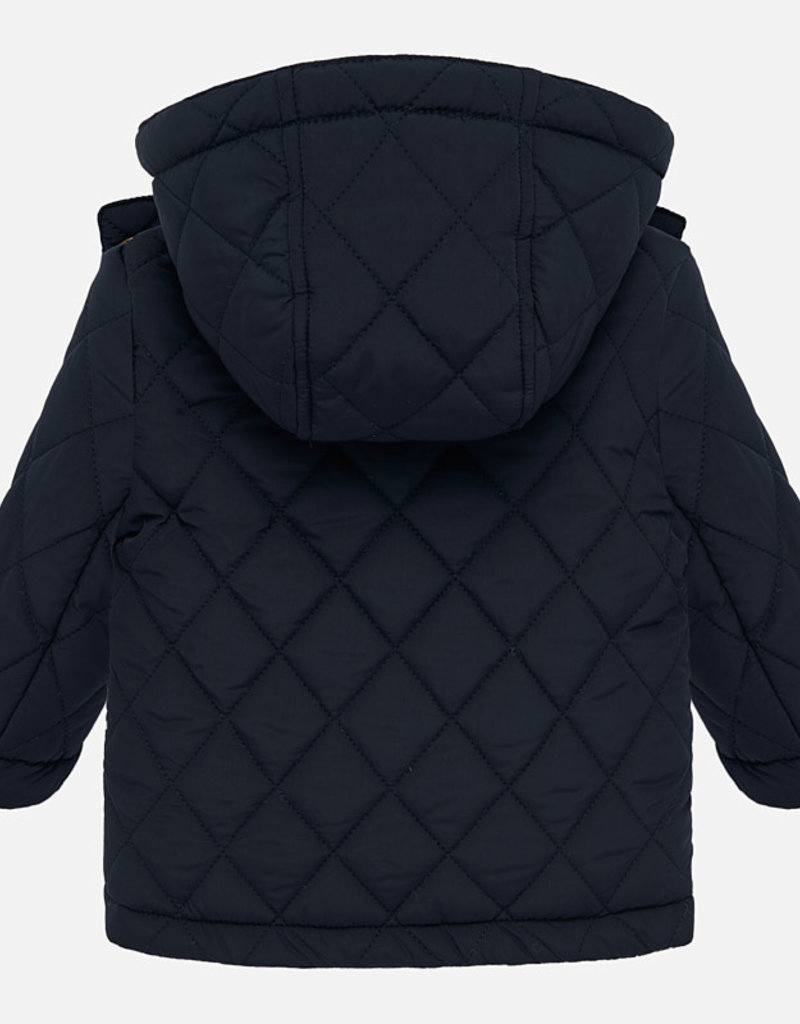 Mayoral Navy Quilted Baby Coat with Hood - Mayoral