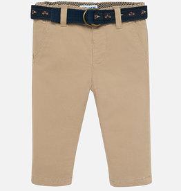 Mayoral Khaki Baby Boy Pants with Belt - Mayoral