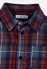 Mayoral Red Plaid Lined Overshirt - Mayoral
