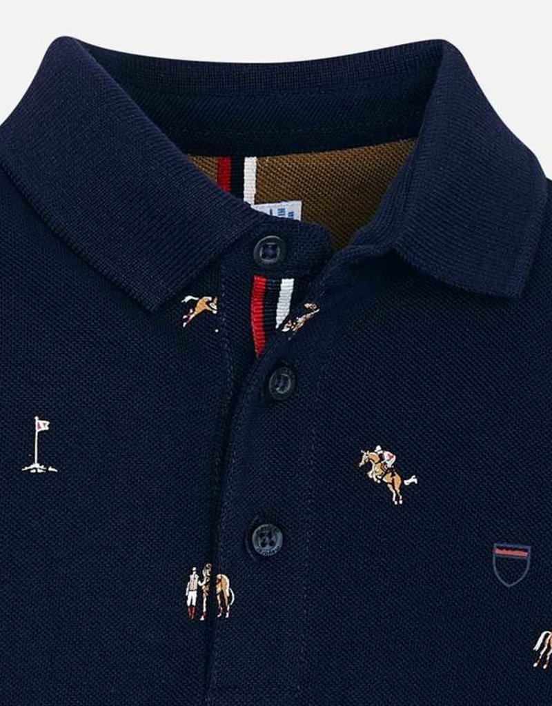 Mayoral L/S Printed Polo Shirt - Mayoral