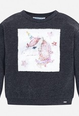 Mayoral Sequin Unicorn Pullover - Mayoral