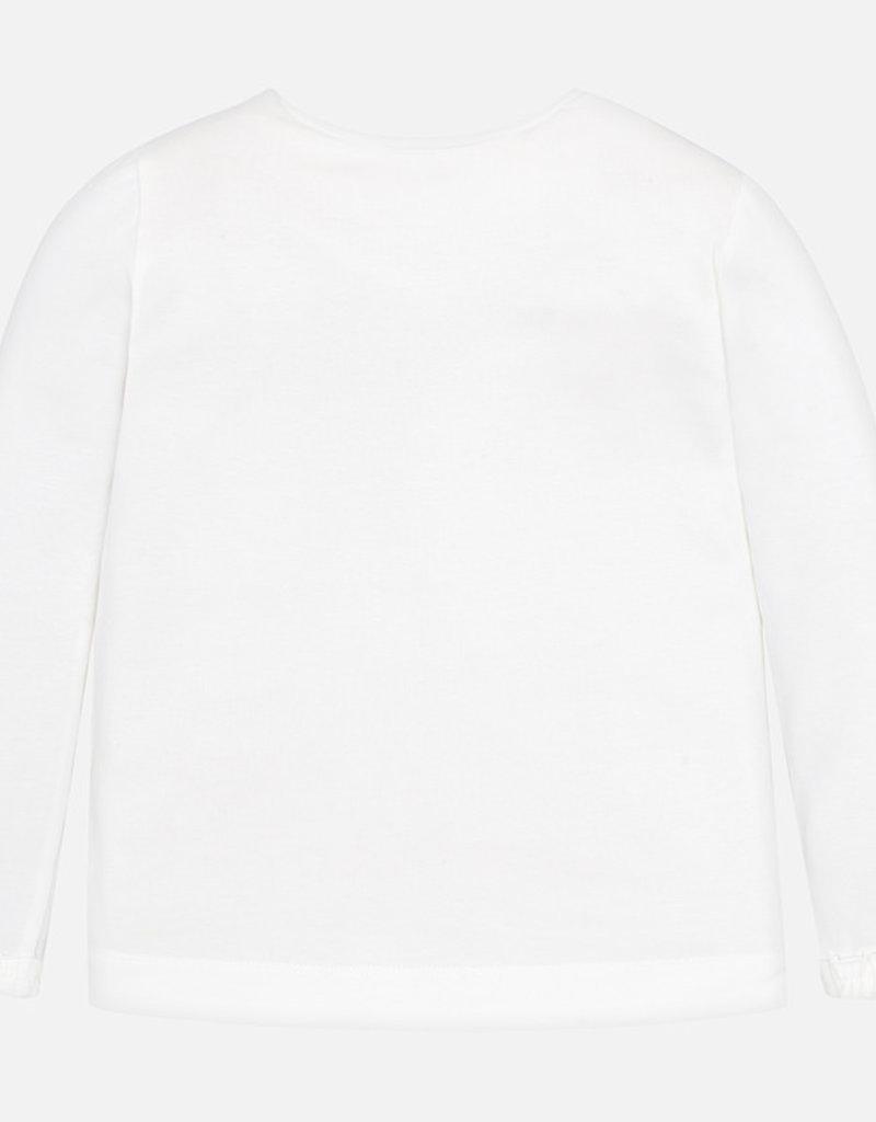 Mayoral Long Sleeve Sparkling  Bow Shirt - Mayoral