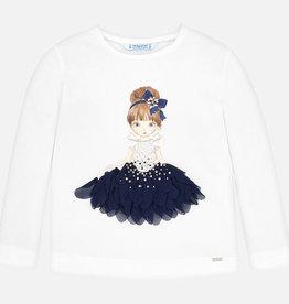 Mayoral Long Sleeve Sparkling Doll  Shirt - Mayoral