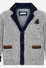 Mayoral Cardigan Sweater - Grey Varsity - Mayoral