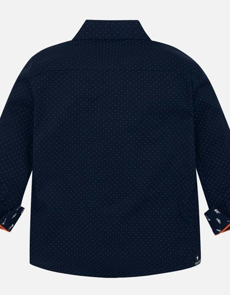 Mayoral Slim Fit Button Down - Navy with Dots - Mayoral
