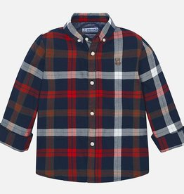 Mayoral Slim Fit Button Down - Red Plaid- Mayoral