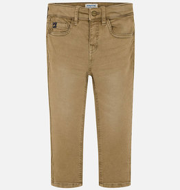 Mayoral Soft Slim Fit Dark Khaki Pants - Mayoral