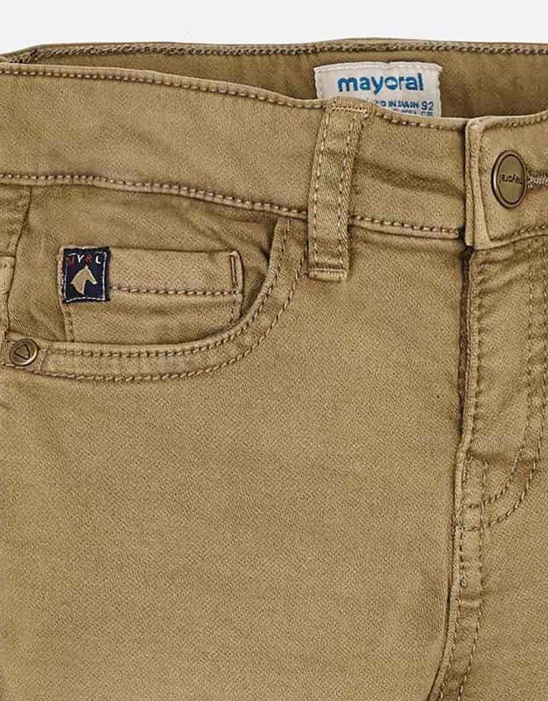 Mayoral Soft Slim Fit Dark Khaki Pants - Mayoral