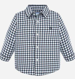 Mayoral Navy and White Button Down - Mayoral