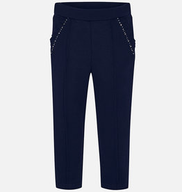 Mayoral Rhinestone Embellished Navy Pants - Mayoral