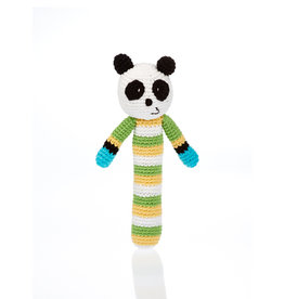 Pebble Knit Panda Rattle Stick