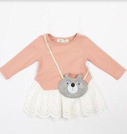 Doe a Deer Inc. Peach Raccoon Purse Top