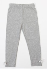 Doe a Deer Inc. Jersey Grey Legging w/bow detail