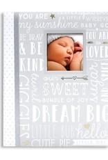 Dream Big Baby Record Book Grey