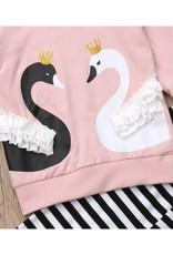 Pink Little Swan Tee & Legging Set