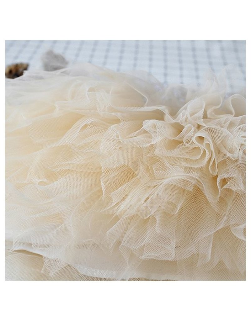 Ivory Tulle & Tweed Tutu Dress