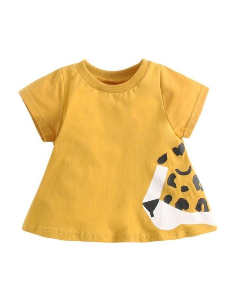 Leopard Print Shift Tee Dress